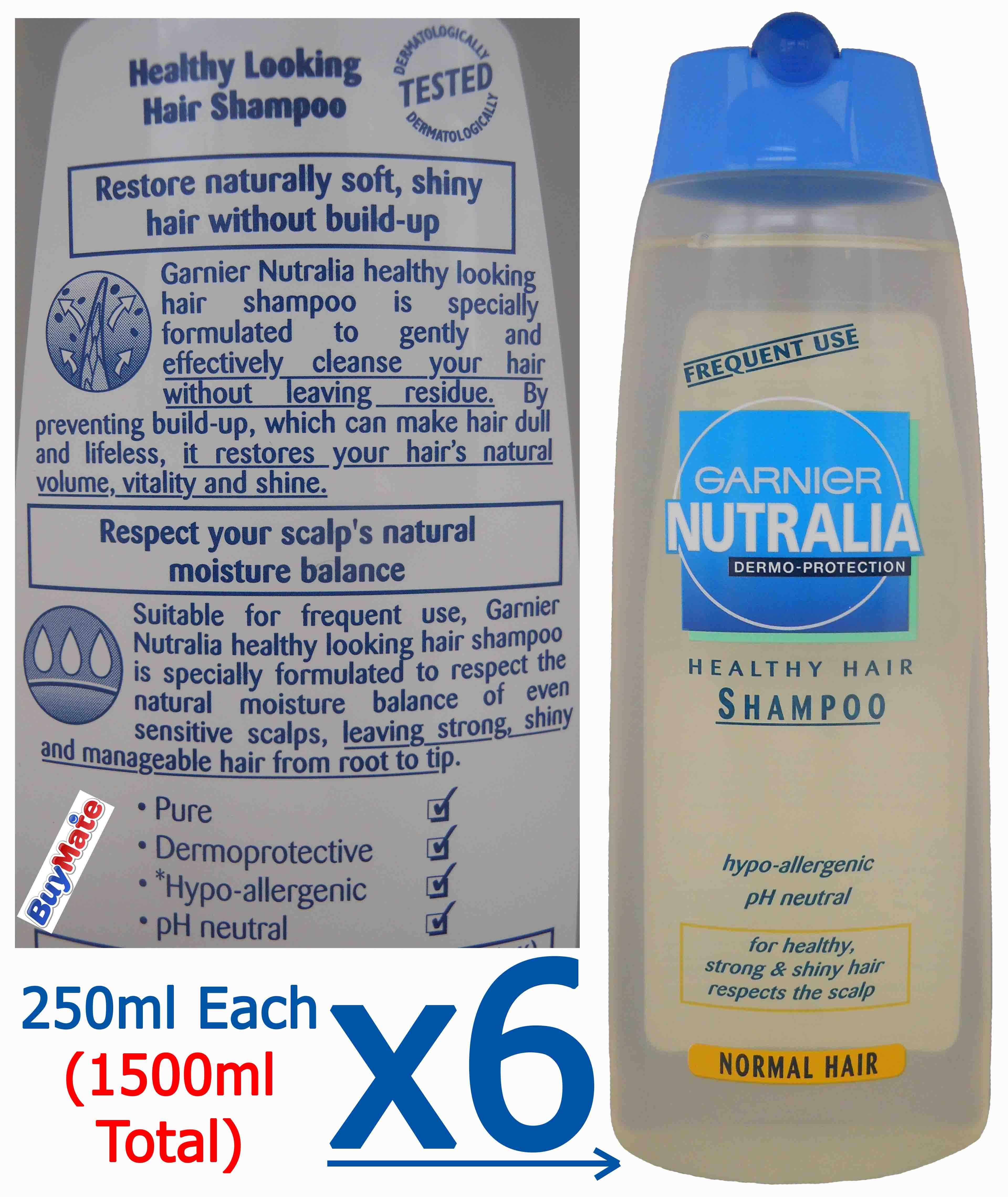 garnier nutralia dermo protection healthy hair shampoo for. Black Bedroom Furniture Sets. Home Design Ideas