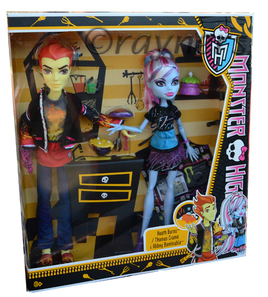 monster high � heath burns amp and abbey bominable lab