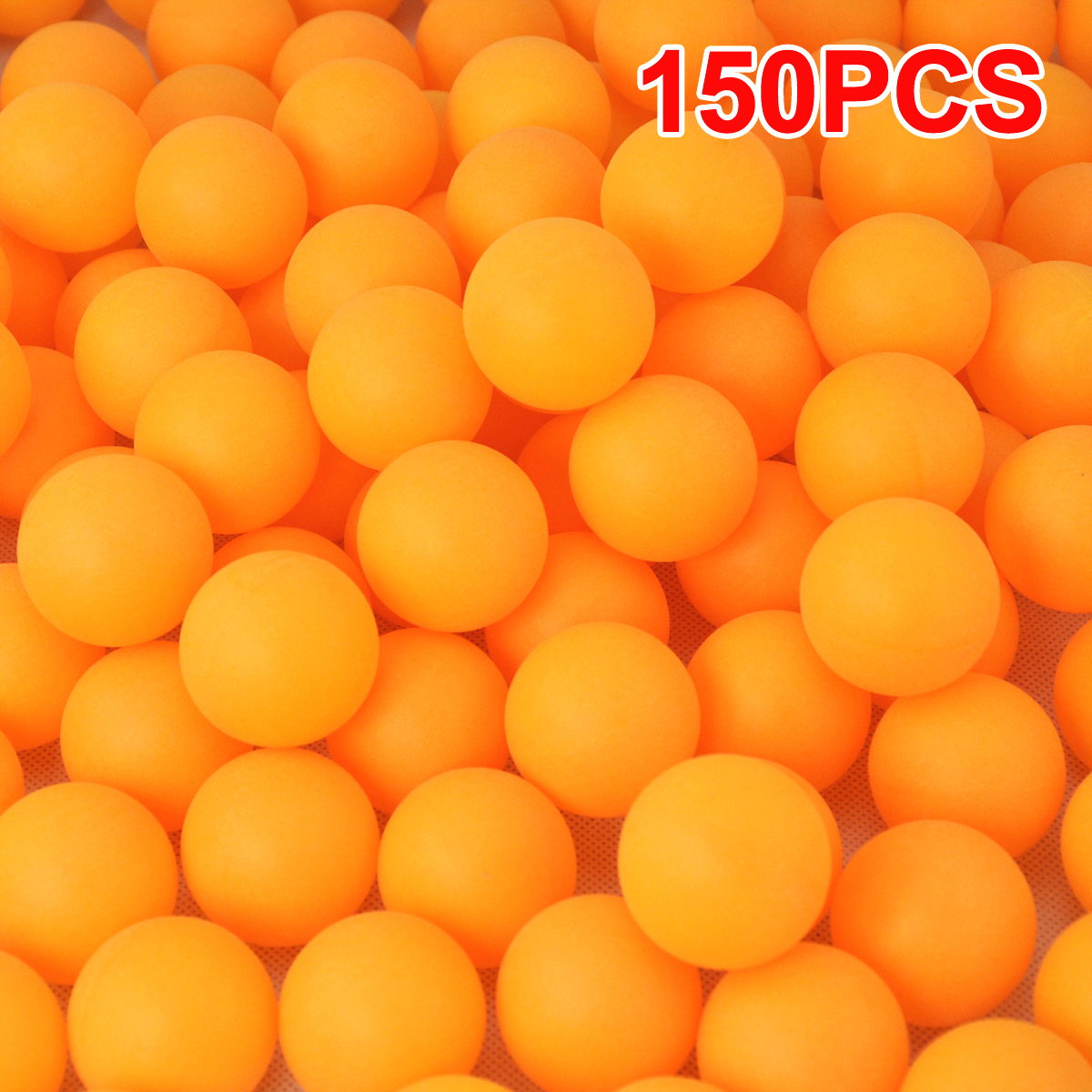 150 table tennis balls plastic ping pong small orange for Small ping pong balls