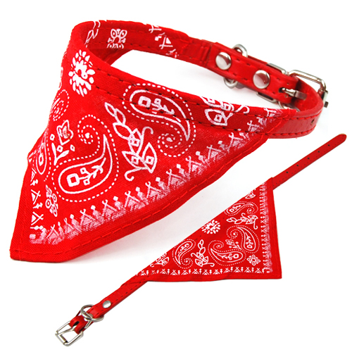 Small adjustable pet dog puppy cat neck scarf bandana with for Dog bandana template