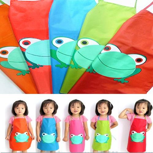 Bambino bambini impermeabile grembiule cartone rana for Cucinare x bambini