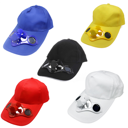 summer outdoor solar sun power hat cap cooling cool fan