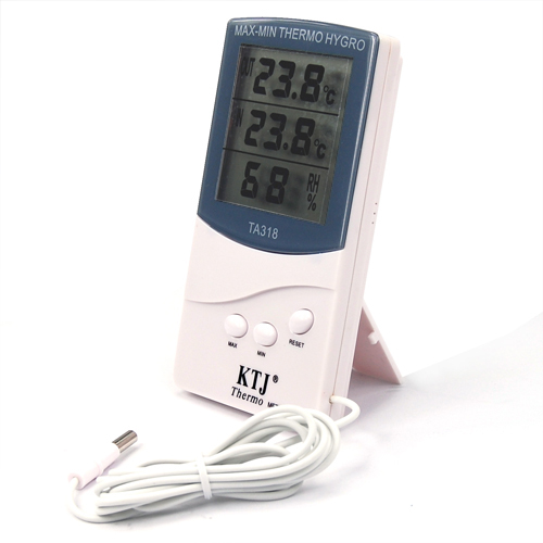 Int rieur ext rieur thermom tre digitale 2 capteurs alarme temps et temp rature ebay - Thermometre interieur precis ...