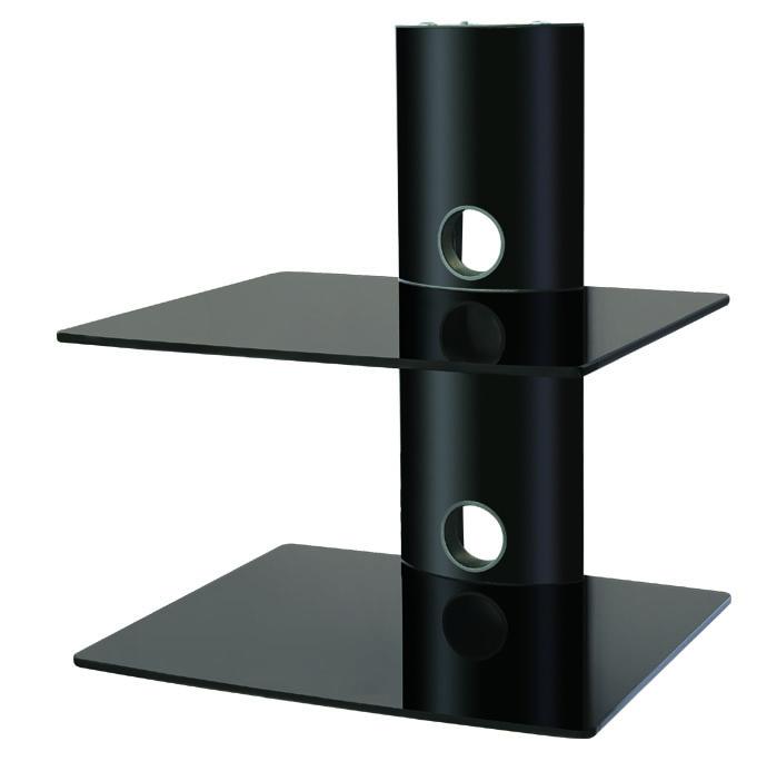 glass shelf wall mount sky dvd lcd plasma tv tvb 014b ebay. Black Bedroom Furniture Sets. Home Design Ideas