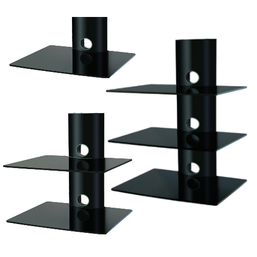 Wall Television Shelves : Wall Mount TV Bracket with Shelf