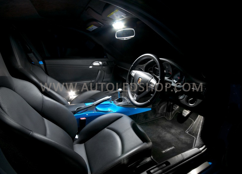 porsche 911 997 2004 white led interior light set bulbs xenon smd ebay. Black Bedroom Furniture Sets. Home Design Ideas