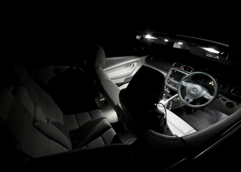 vw eos convertible white led interior light set bulbs xenon smd ebay. Black Bedroom Furniture Sets. Home Design Ideas